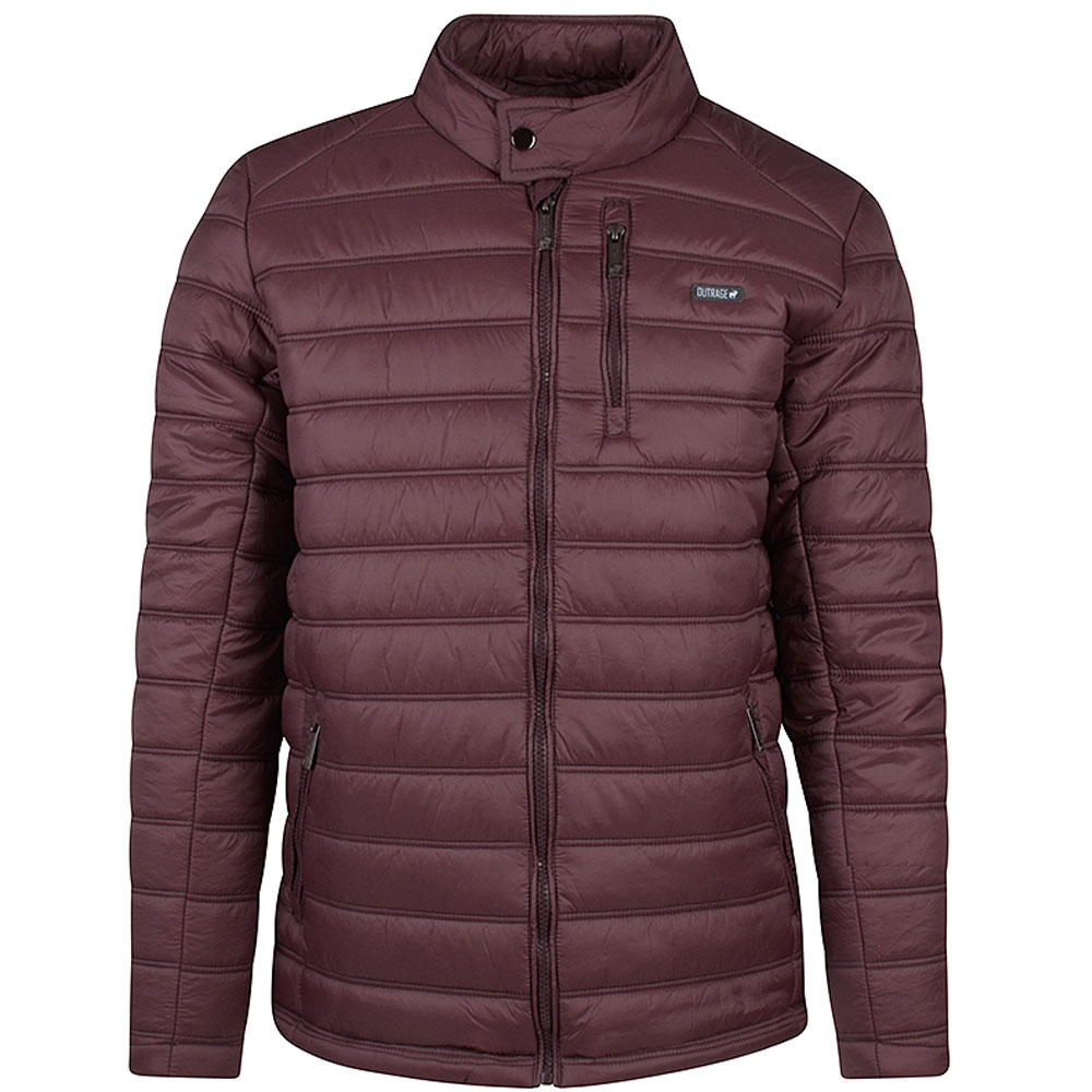 Aston Puffa Jacket in Burgundy