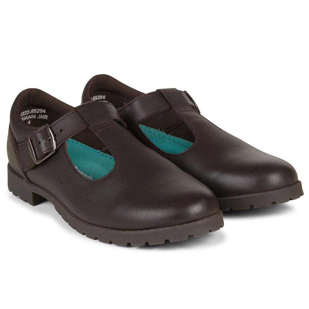 Marianne Girls School Shoe in Brown