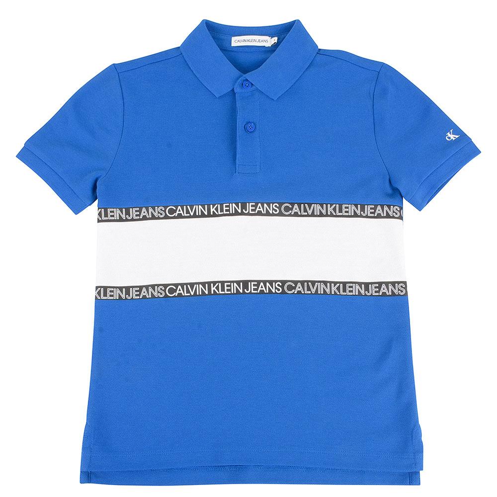 Kids Colour Block Polo in Blue