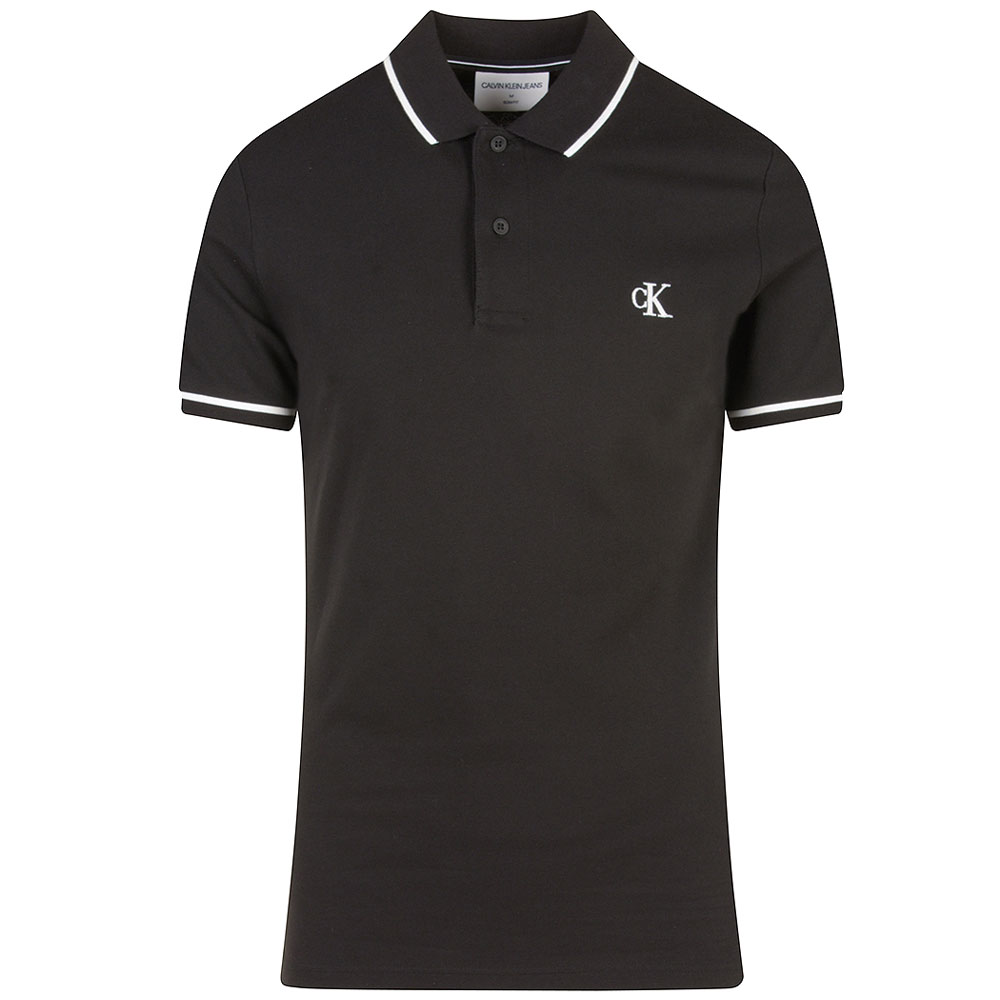 Tipping Polo Shirt in Black