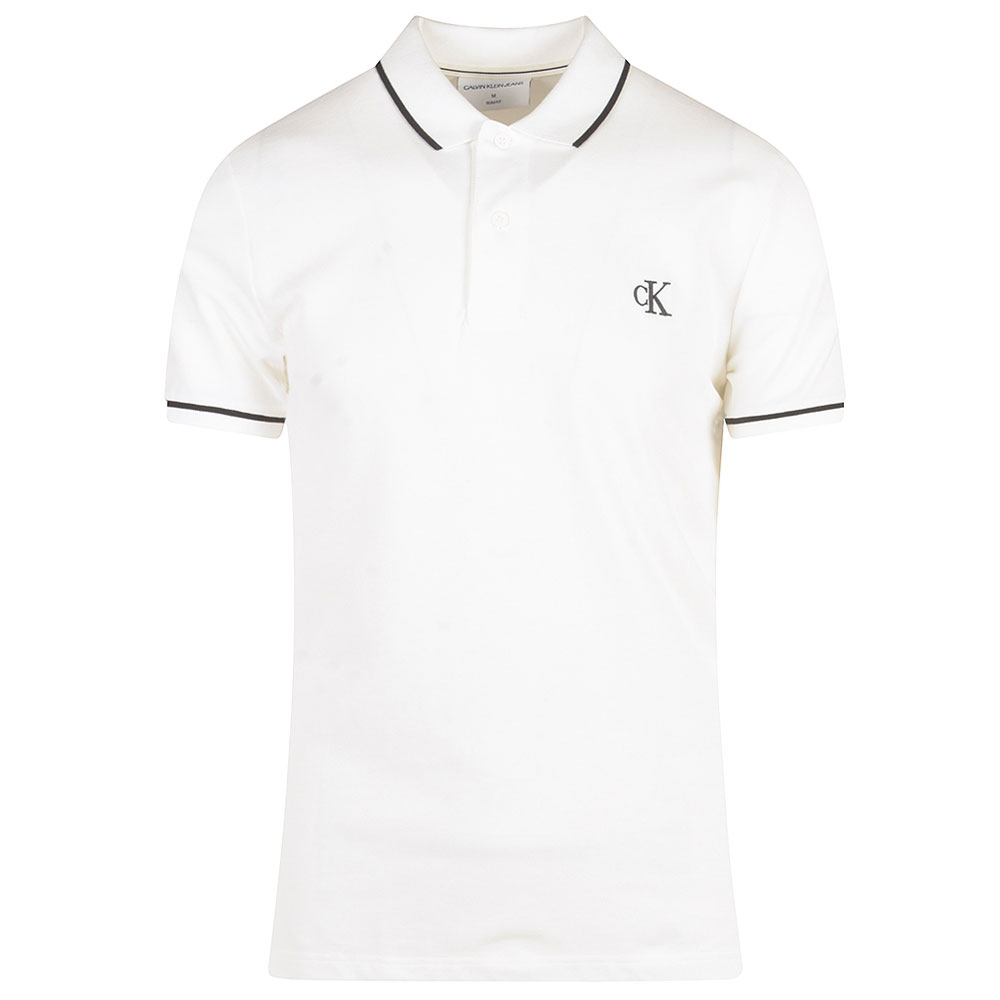 Tipping Polo Shirt in White