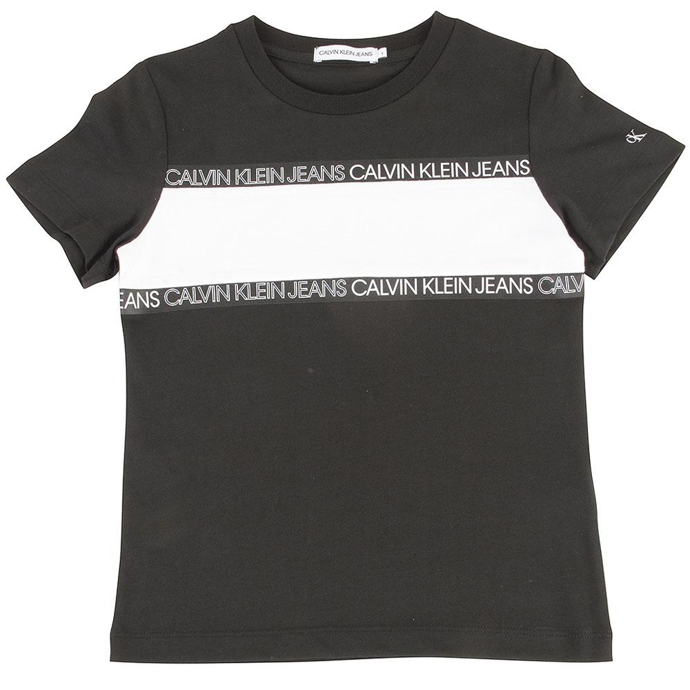 Kids Colour Block T-Shirt in Black