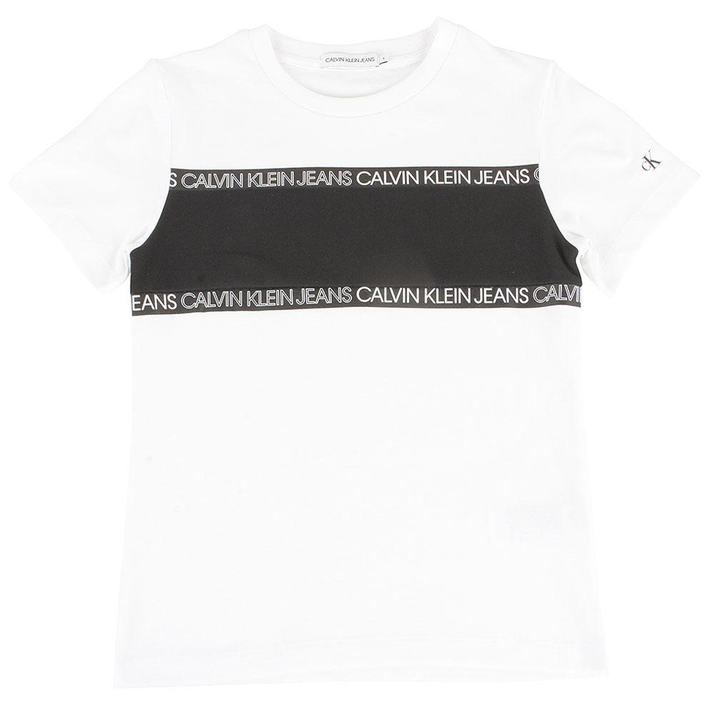Kids Colour Block T-Shirt in White