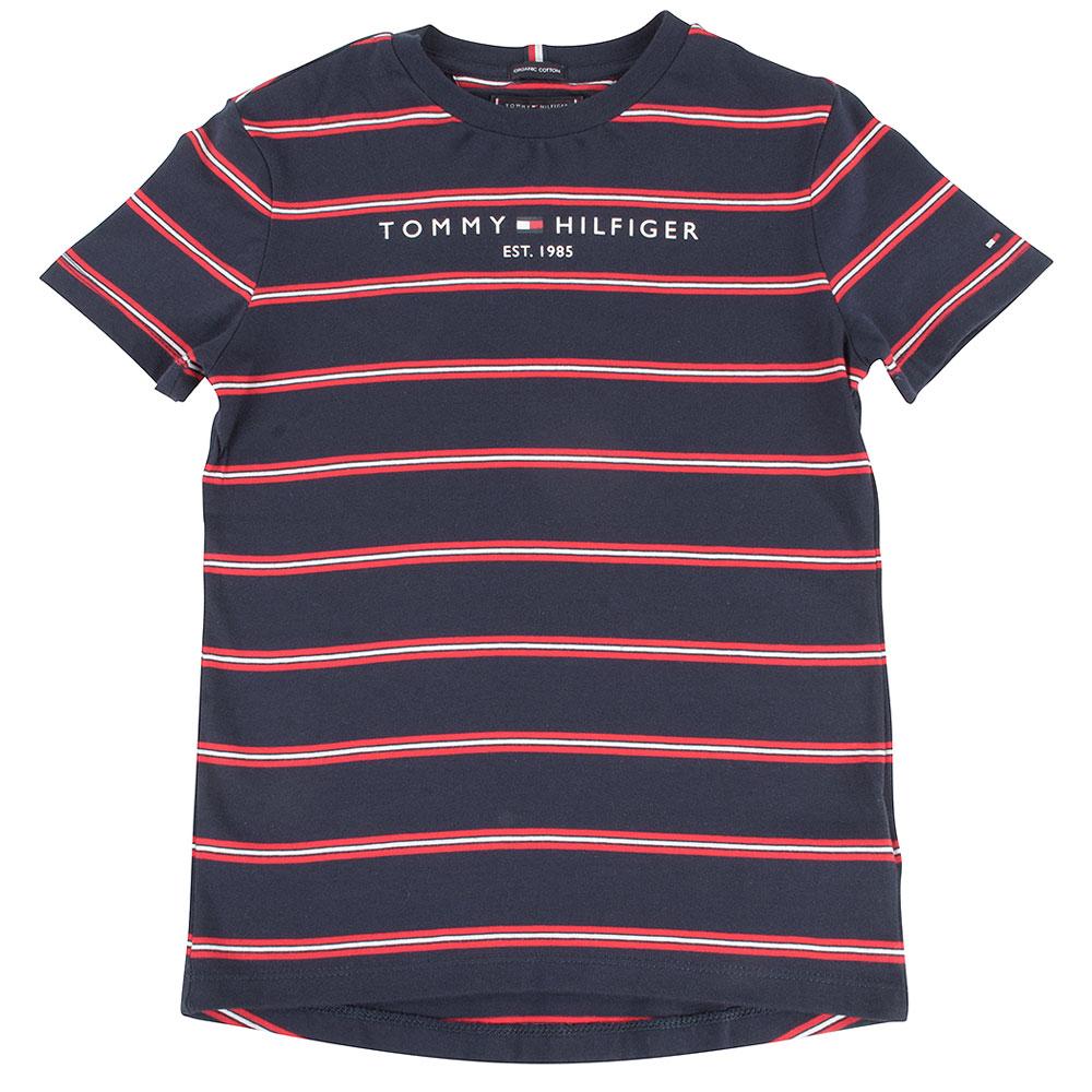 Essential Stripe Kids T-Shirt in Red