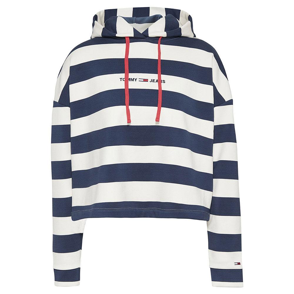 Stripe Hoodie in Navy