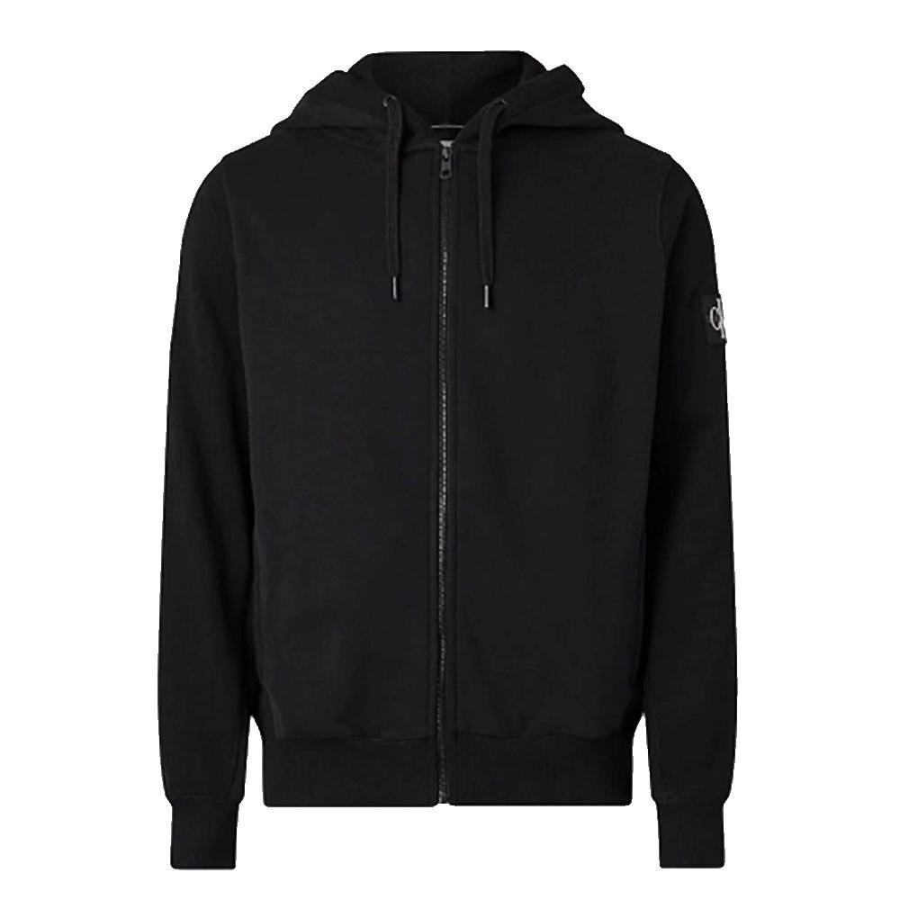 Monobadge Zip Hood in Black