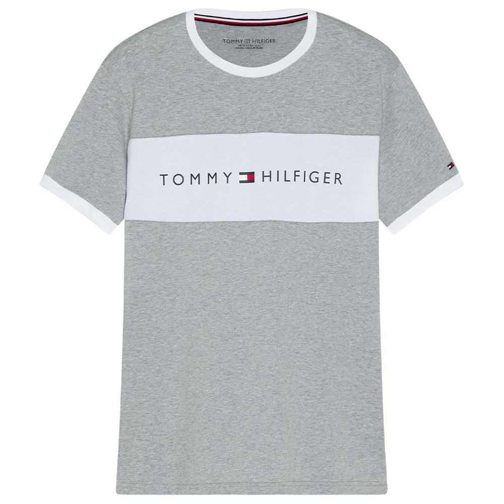 Logo Flag Tee in Grey